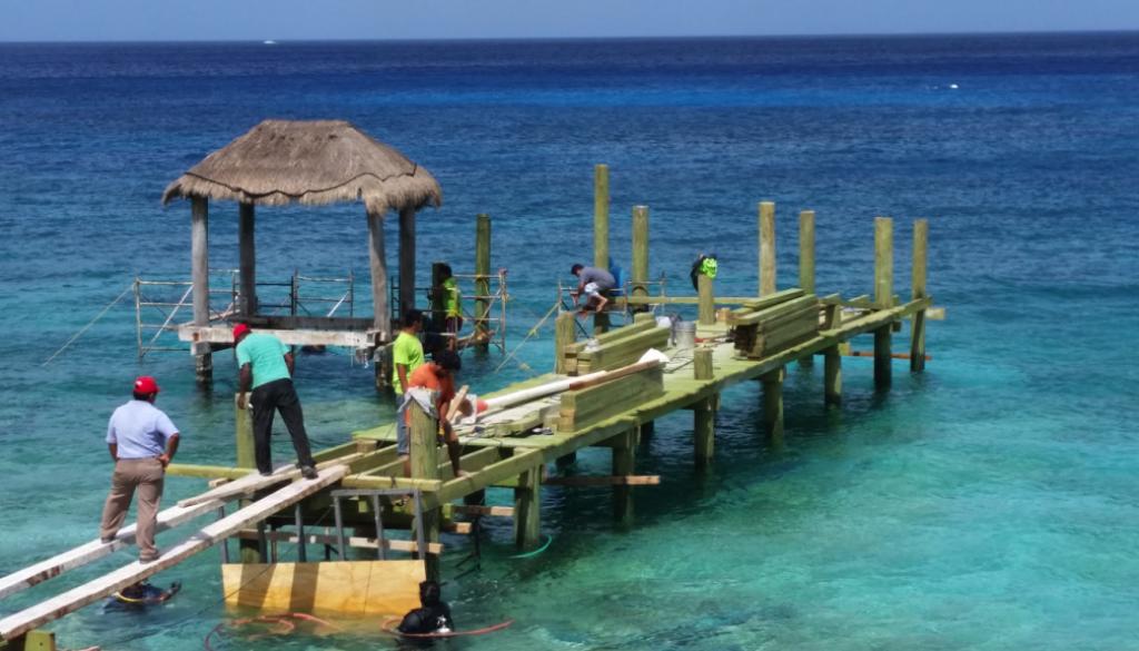 Construcción de Muelle en Cozumel